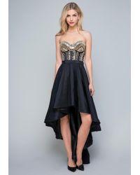 Bebe - Crystal Beaded Gown - Lyst