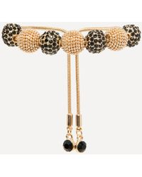 Bebe - Crystal & Bead Bracelet - Lyst