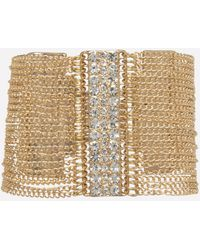 Bebe - Crystal & Chain Bracelet - Lyst