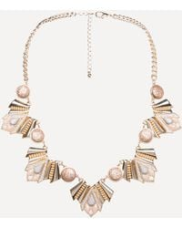 Bebe - Geo Statement Necklace - Lyst