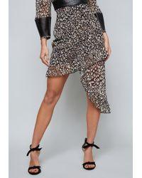 Bebe - Ruffled Asymmetric Skirt - Lyst