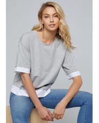 Bebe - Logo Poplin Mix Pullover - Lyst
