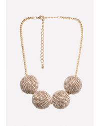 Bebe - Multi-ball Necklace - Lyst