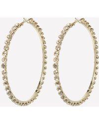 Bebe - Big Gold Hoop Earrings - Lyst