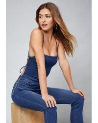 Bebe - Dangerous Crop Jumpsuit - Lyst