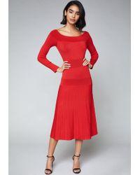 Bebe - Tatiana Sweater Dress - Lyst