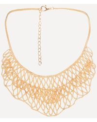 Bebe - Shot Bead Bib Necklace - Lyst