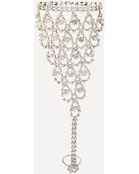 Bebe - Crystal Chain Hand Jewelry - Lyst