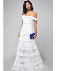 Bebe - Isabel Lace Tiered Dress - Lyst