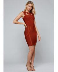 Bebe - Cutout Bandage Dress - Lyst