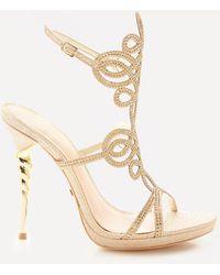 Bebe | Delja Jeweled Sandals | Lyst