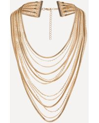 Bebe - Layered Chain Necklace - Lyst