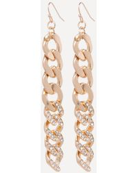 Bebe - Chainlink Linear Earrings - Lyst