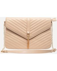 Bebe - Quilted Flat Crossbody Bag - Lyst