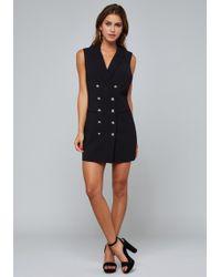Bebe - Crossback Vest Dress - Lyst
