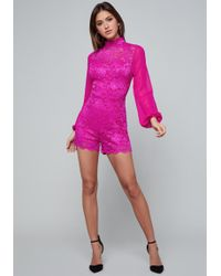 Bebe - Rosa Lace Romper - Lyst