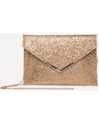 Bebe - Glittering Envelope Clutch - Lyst