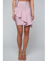 Bebe - Marisol Bandage Skirt - Lyst