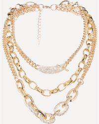 Bebe - Triple Chainlink Necklace - Lyst