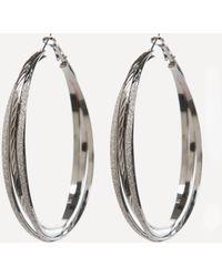 Bebe - Stardust Hoop Earrings - Lyst