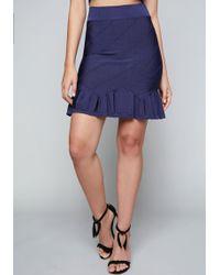 Bebe - Ruffle Hem Bandage Skirt - Lyst