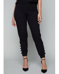 Bebe - Logo Side Lace Up Trousers - Lyst