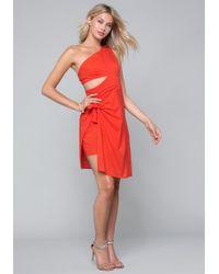 Bebe - Tie Overlay Dress - Lyst