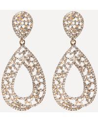 Bebe - Glam Open Teardrop Earrings - Lyst
