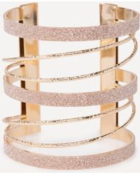 Bebe - Glitter Metal Cuff - Lyst