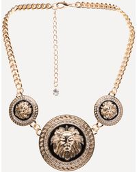 Bebe - Lion Medallion Necklace - Lyst