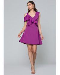 Bebe - Ruffled Fit & Flare Dress - Lyst
