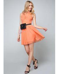 Bebe - Palena Twist Front Dress - Lyst