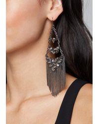 Bebe - Fringe Crystal Earrings - Lyst
