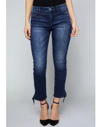 Bebe - Ankle Tie Crop Skinny Jeans - Lyst