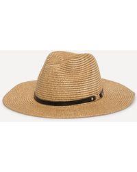 Bebe - Gold Straw Panama Hat - Lyst