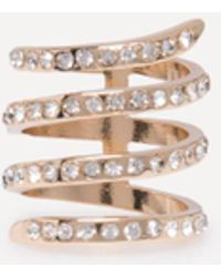 Bebe - Crystal Wrap Around Ring - Lyst