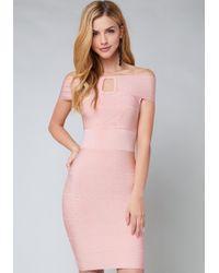Bebe - Shoshanna Bandage Dress - Lyst