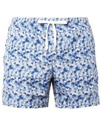 Dan Ward 3d Blockprint Swim Shorts - Lyst