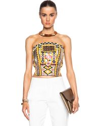 Barbara Bui Strapless Embellished Top - Lyst