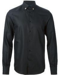 Versace Black Textured Shirt - Lyst