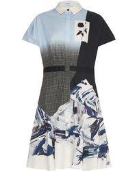 Prabal Gurung Ombré-Effect Marble-Print Shirtdress - Lyst