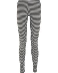 Chinti And Parker Striped Organic Cotton Leggings - Lyst