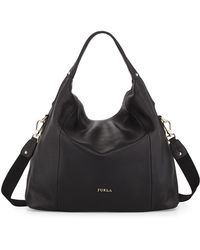 Furla Raffaella Medium Leather Hobo Bag - Lyst