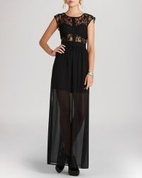 BCBGeneration Maxi Dress Sheer Lace - Lyst