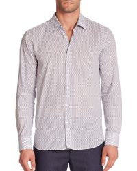 BOSS | Lukas Graphic Polka Dot Woven Sportshirt | Lyst