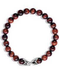 David Yurman Spiritual Beads Red Tiger'S Eye Bracelet brown - Lyst
