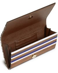 Tory Burch 'Rayna' Stripe Resin Clutch - Lyst