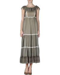 RED Valentino Long Dress - Lyst