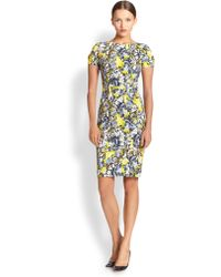 Erdem Joyce Floral-print Short-sleeve Sheath Dress - Lyst