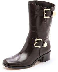 Michael by Michael Kors Robin Booties Coffee - Lyst